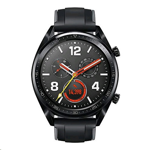 Huawei Watch GT FTN-B19 Black Stainless Steel with Silicone Strap - Graphite Black - SmartX Direct