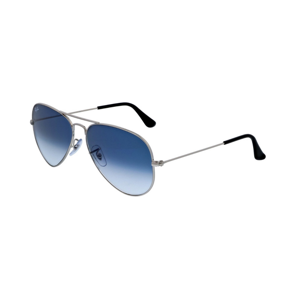 Ray-Ban Aviator Glass Sunglasses RB3025 - Silver/Blue Flash Mirror - Unisex - SmartX Direct