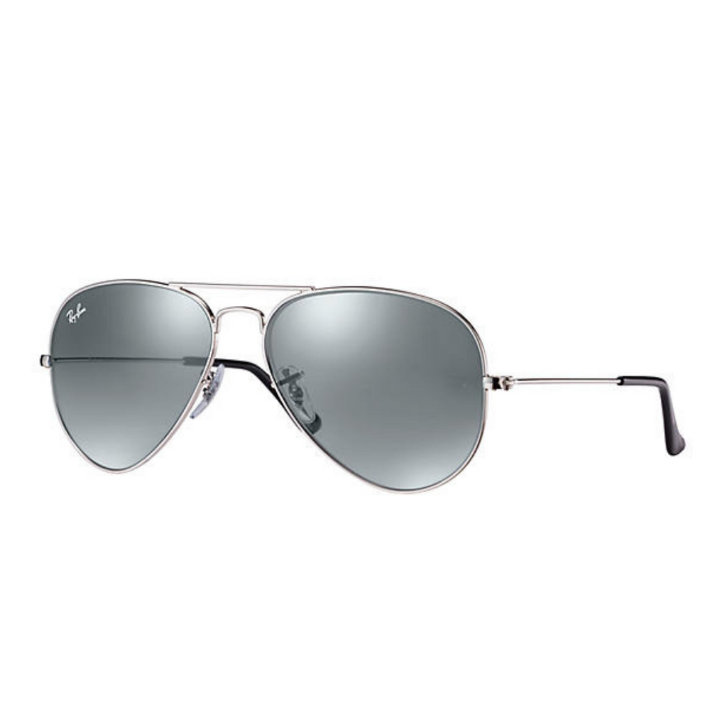 Ray-Ban RB3025 62mm Aviator Sunglass (Silver/Silver Mirror Lens) - SmartX Direct