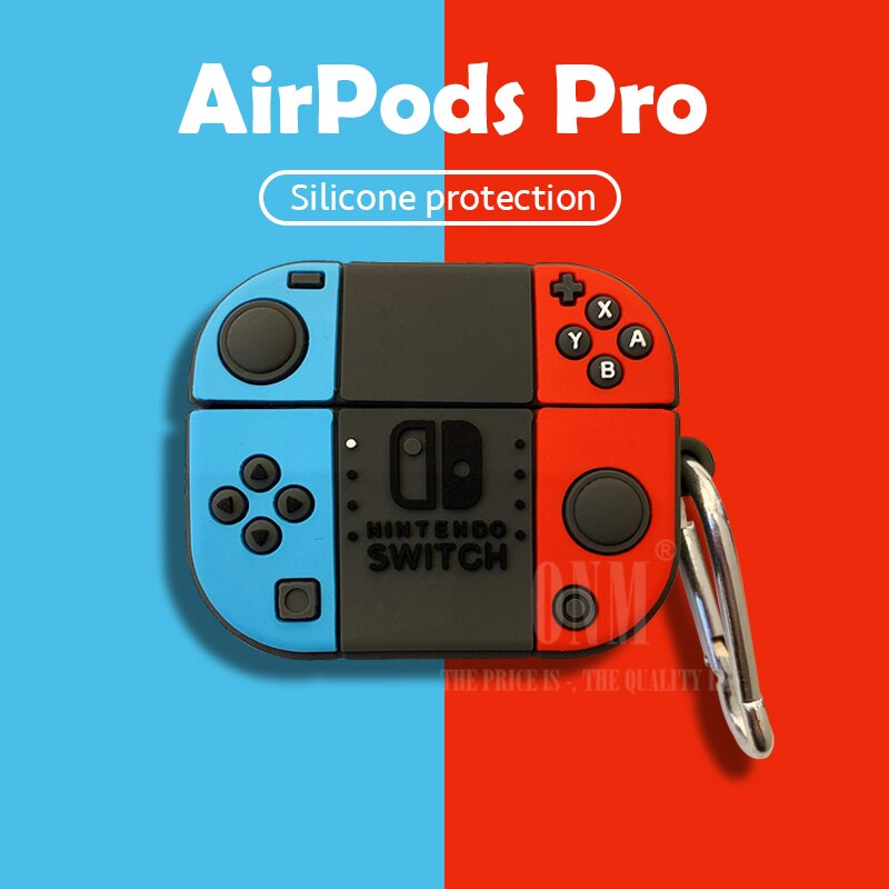 3D Nintendo Style Silicon Case for AirPods Pro Nintendo Switch Silicone Protective Case For AirPods Pro 3rd Generation With Hook