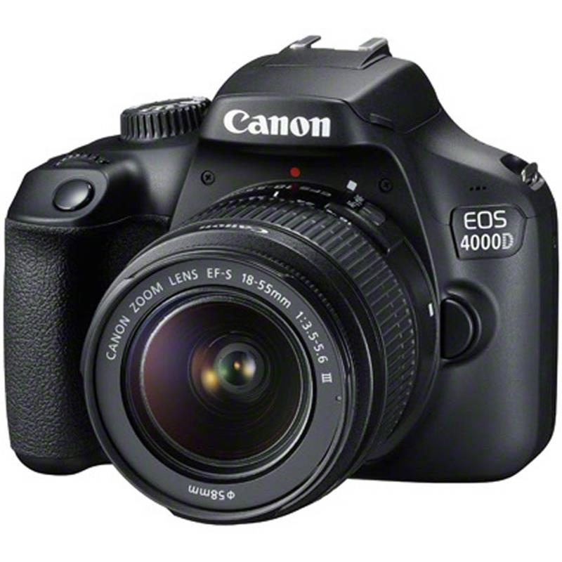 Canon EOS 4000D Kit with 18-55 III Lens Digital SLR Cameras - Black - SmartX Direct