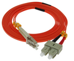 3m LC-SC Duplex Multimode 62.5/125 Fiber Optic Cable