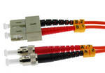 2m ST-SC Duplex Multimode 62.5/125 Fiber Optic Cable
