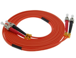 1m ST-ST Duplex Multimode 62.5/125 Fiber Optic Cable