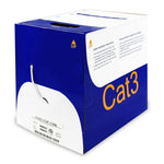 1000Ft Cat.3 4 Pair Bulk Wire, CMR White
