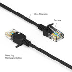 3Ft Cat6A UTP Slim Ethernet Network Booted Cable 28AWG Black