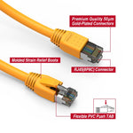 5Ft Cat.8 S/FTP Ethernet Network Cable 2GHz 40G Yellow 24AWG