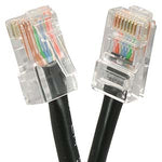 10Ft Cat5E UTP Ethernet Network Non Booted Cable Black