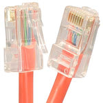 1.5Ft Cat5E UTP Ethernet Network Non Booted Cable Orange