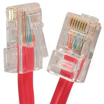 3Ft Cat6 UTP Ethernet Network Non Booted Cable Red