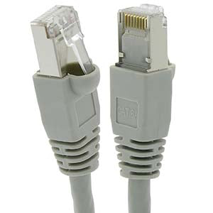25Ft Cat6A Shielded (SSTP) Ethernet Network Booted Cable Gray