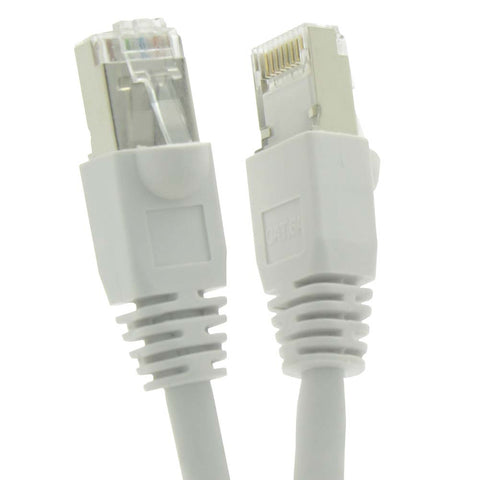 15Ft Cat6A Shielded (SSTP) Ethernet Network Booted Cable White