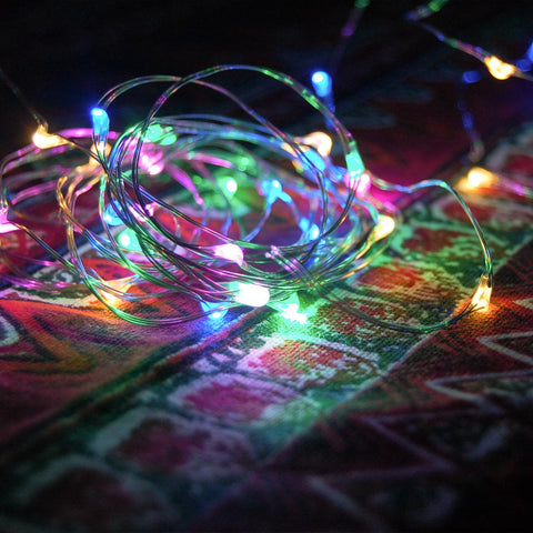 100L Mini LED 10-Meter Multi-Color Multi-Mode String Light Battery Powered Remote
