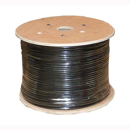 1000Ft Cat.6 Stranded Wire Bulk Cable Shielded Black, 26AWG CMH