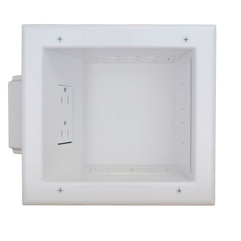 Recessed Media Box II w/ 15 Amp/125 Volt Duplex Receptacle, ETL