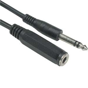 "10Ft 1/4"" Stereo Male/Female cable"