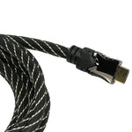 10Ft HDMI Cable with Mesh Jacket 3D 4K 30Hz 30AWG