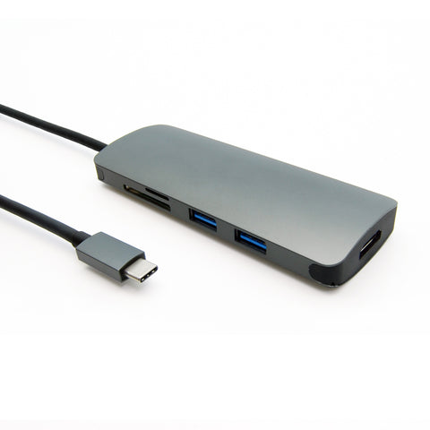USB 3.1 Type-C to USB3.0x2+Micro SD+SD/MMC+HDMI+Type C charging