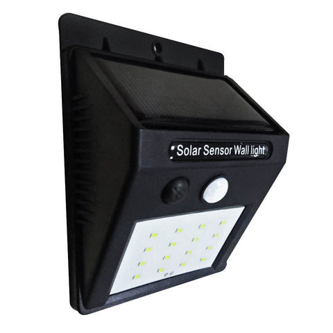 16LED Wallmount Solar Multi-mode Sensor LED Light 2.4W 270LM, 4pc Set
