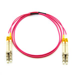 1m LC-LC 40/100G OM4 Erika Violet 50/125 MultiMode Duplex Fiber Patch Cable