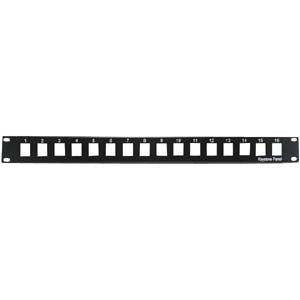 "1U 19"" 16port Blank Panel for Keystone Jack"