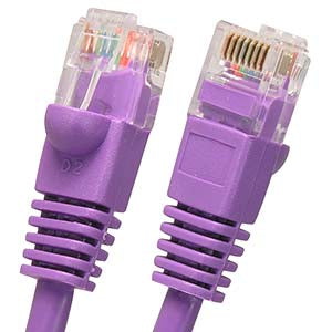 50Ft Cat5E UTP Ethernet Network Booted Cable Purple