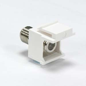 Snap-in F Type F/F Keystone Module White
