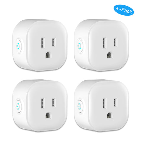 4- Pack WiFi Smart Outlet Compatible with Alexa and Google Home