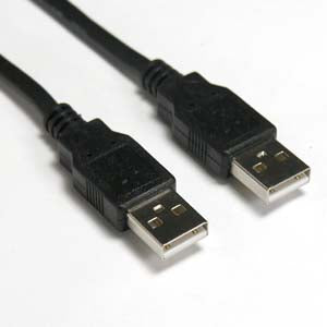 10Ft A-Male to A-Male USB2.0 Cable Black