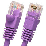 75Ft Cat5E UTP Ethernet Network Booted Cable Purple