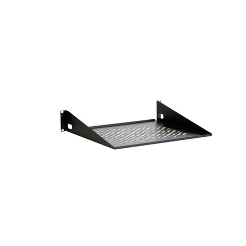 "2U 16"" Vented Light Duty Rack Shelf"