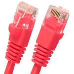 1Ft Cat5E UTP Ethernet Network Booted Cable Red