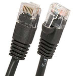 1.5Ft Cat6 UTP Ethernet Network Booted Cable Black