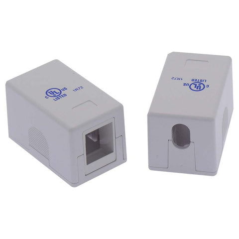 1 Port RJ45 Surface Mount Box White (Box only)