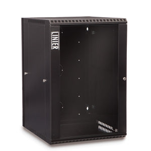 18U Swing Out Wall Mount Cabinet Glass Door