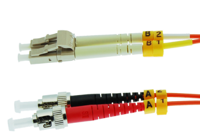 1m ST-LC Duplex Multimode 62.5/125 Fiber Optic Cable
