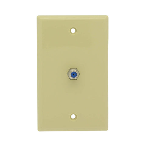 F Coupler Wall Plate Ivory 3GHz Rated