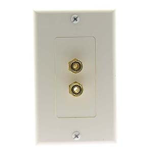 Banana Binding Post Decora Wall Plate White