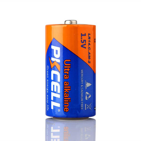2-Pack 1.5V C/LR14 Alkaline Battery PKCELL