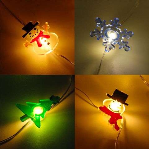 20L Mini LED X'Mas String Light Assort (6-Pack) Battery Powered