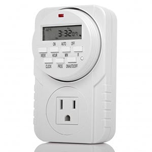 Weekly Digital Time Single 3-Prong Outlet w/ 8 ON/OFF Timer Programming