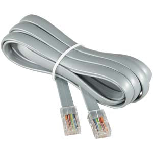 7Ft RJ45 Modular Cable Straight