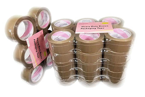 iMBAPrice - Brown/Tan Color Packaging Shipping Tape, 3-inches x 110 YDS, (Pack of 72)