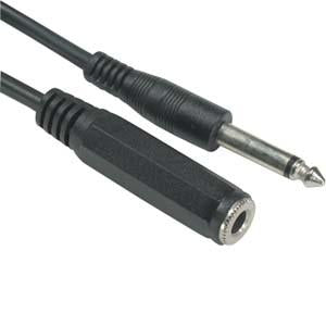 "25Ft 1/4"" Mono Male/Female Cable"