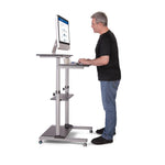 Compact Height-Adjustable Computer Cart WST-01