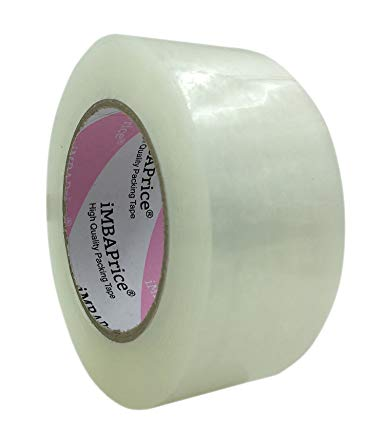 "iMBAPrice Sealing Tape - 6 Roll of 110 Yards 6 x 330 Feet Long 2"" Wide Clear Shipping Packaging Tape"