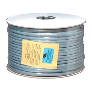 1000Ft UL 6 Conductor Silver Satin Modular Cable 26AWG