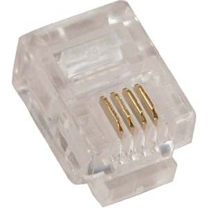 RJ11 (6P4C) Plug for Solid Round Wire 100pk