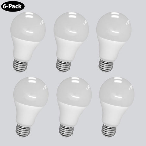 6-Pack 60W Equivalent Warm White (3,000K) A19 LED 9W Light Bulb