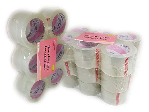 iMBAPrice 3-Inches Wide Packaging Tape (24 Roll of 110 Yards) Clear Moving Packing Tape